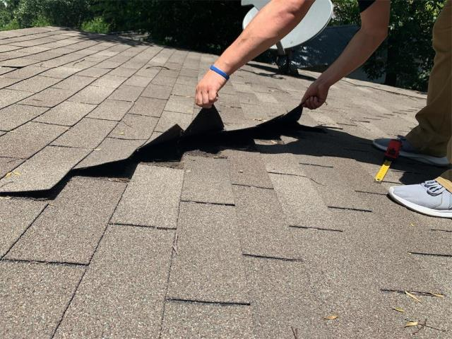 Austin, TX - Roof inspection for possible storm damage in the Austin area. We inspected the roof and recommended insurance be called for possible claim. They are looking at getting a new GAF roof by a Master Elite Contractor!