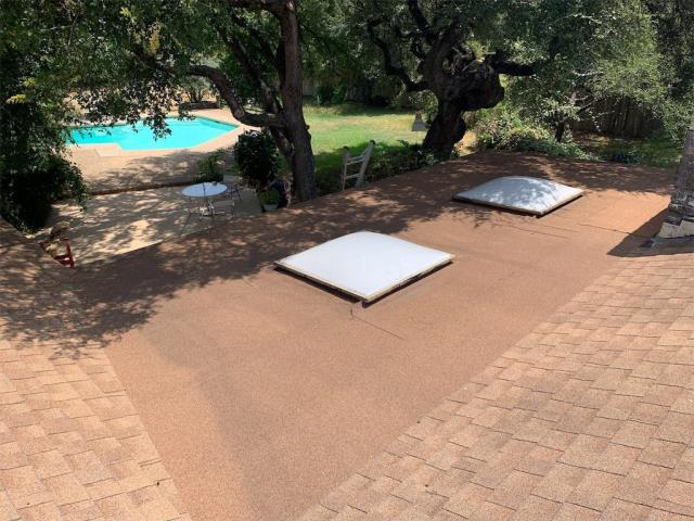 Round Rock, TX - Roof inspection for extensive repair. Roof in Round Rock has hail impacts. Recommending Insurance be contacted for possible claim and replacement. Working to save money for the homeowner.