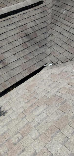 Georgetown, TX - Roof inspection for hail damage in Georgetown Texas. Home claimed by insurance, roof needs to be replaced. Damage in the Texas Traditions Neighborhood of Georgetown Texas.