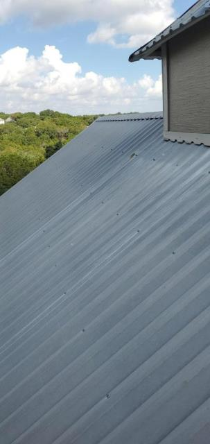 Georgetown, TX - Roof inspection for active leak on metal roof ins Georgetown Texas. Repair recommended and homeowner wants to proceed with the repairs immediately.
