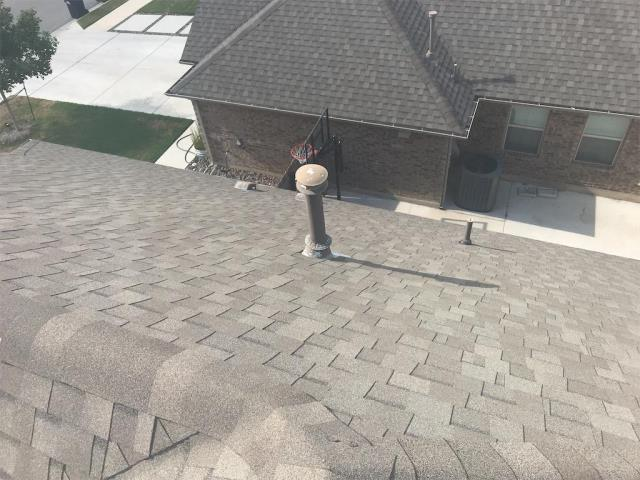 Leander, TX - Roof inspection for peace of mind in Leander Texas. Homeowner does not believe there is hail damage on roof though others have told him there is. We inspected and there was no hail on the roof or any collateral damage on roof metals. Homeowner pleased in our honesty and integrity of the roof inspection.