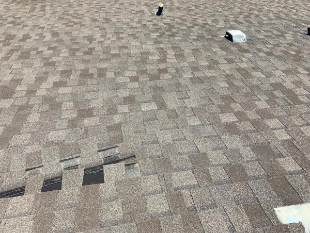 Leander, TX - Roof inspection for repair of missing shingles. Homeowner also wants to add gutters. Repair fixed and gutters added shortly!