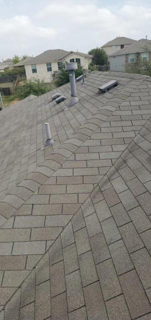 Round Rock, TX - Roof inspection in Round Rock Texas for possible storm damage to shingles. Homeowner has had previous roofers come out, but wanted a licensed roofer to take a look at their roof for storm damage.