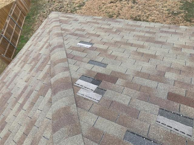 Georgetown, TX - Roof inspection for possible hail damage on roof in Georgetown Texas. Home also has loose shingles that will need to be repaired.