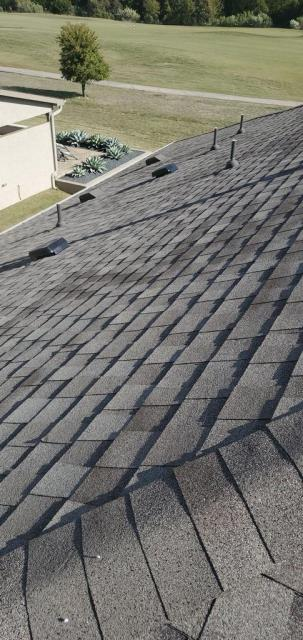 Georgetown, TX - Roof inspection in Sun City neighborhood of Georgetown Texas.
