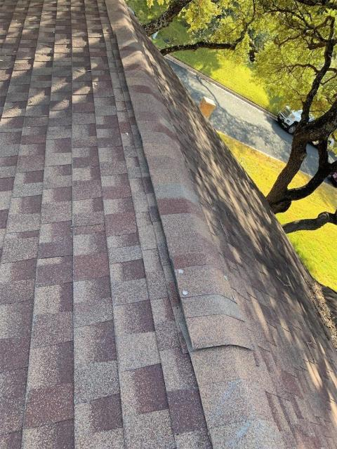 Georgetown, TX - Roof inspection for possible hail damage in Georgetown Texas. Homeowner is looking to have roof replaced by local roofing company.