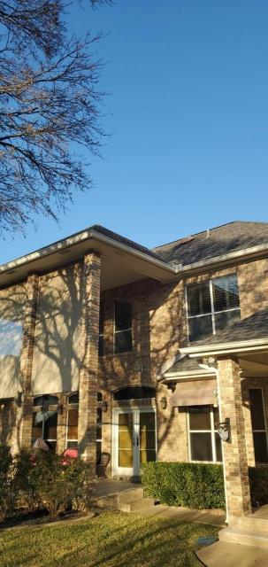 Georgetown, TX - Roof inspection in Berry Creek neighborhood of Georgetown Texas for hail damage. Roof already claimed by insurance company due to hail storm in previous years.