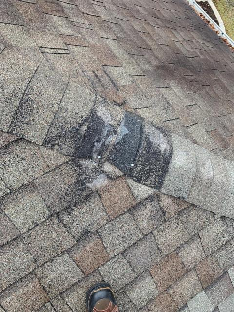 Georgetown, TX - Shingles falling off of roof. We are providing a repair for this client on their home.