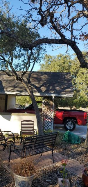Liberty Hill, TX - Roof inspection for new roof installation on patio. Recommendation provided for roof work in Liberty Hill.