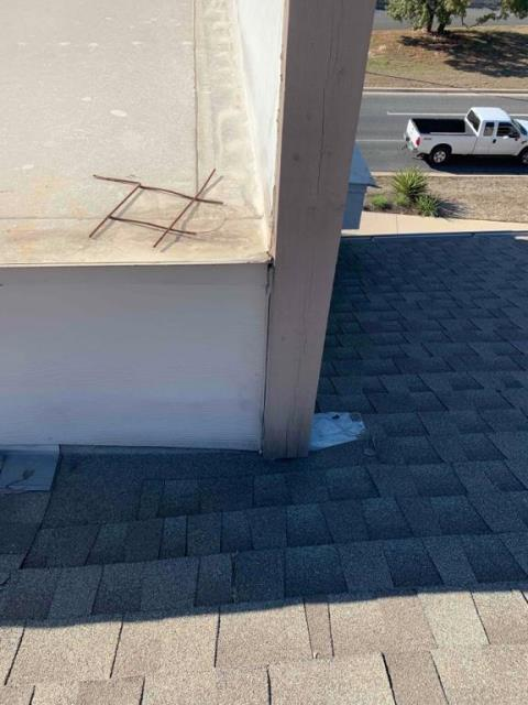 Georgetown, TX - Roof repair on commercial building in Georgetown Texas. Repairs completed for commercial client and no more leaks!