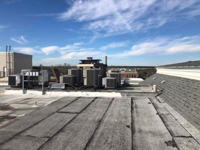 Georgetown, TX - Commercial roof inspection and commercial roof replacement in Georgetown Texas. Roof at the end of its life and will be getting a new TPO roof shortly!