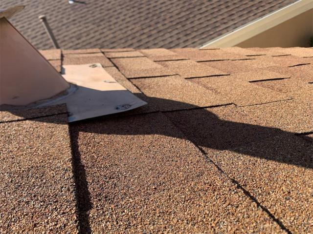 Georgetown, TX - Roof repair complete in Sun City Neighborhood of Georgetown Texas. Active leak fixed and client pleased with professional services.
