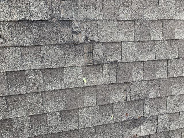 Cedar Park, TX - Roof repair for client in Cedar Park. Shingles not installed properly and causing leak.