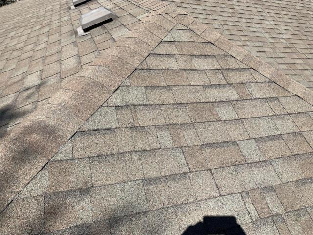 Leander, TX - Looking for a roofer in Leander? One that can provide you a hail bid? Look no further. This roof inspection in Leander Texas had hail and insurance is looking to replace the roof at no cost to the homeowner outside their deductible!
