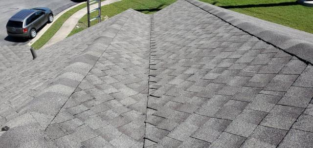 Round Rock, TX - Roofing company in Round Rock Texas. Roof replacement from hail claim by insurance company. Texas Traditions Roofing excellent roof installation!