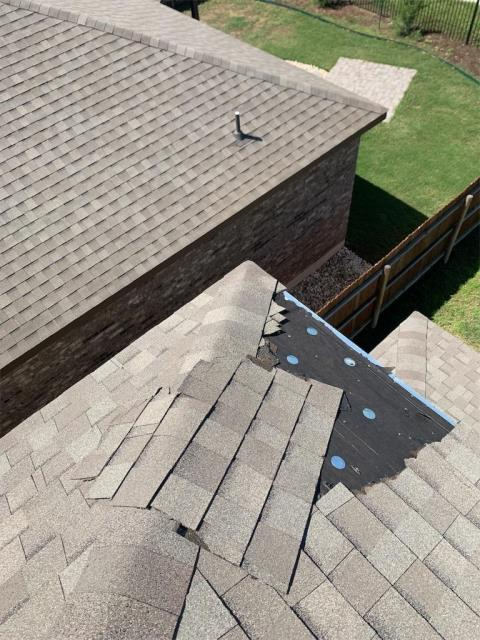 Liberty Hill, TX - Storm damage in Liberty Hill Texas. Local Roofing company in Georgetown that can help with all roof inspections, roof storm damage and possible roof replacements. Texas Traditions Roofing is the roofing company to trust.