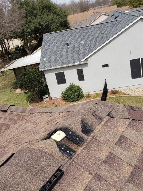Georgetown, TX - Roof Repair Sun City Exposed Ridge Active Leak