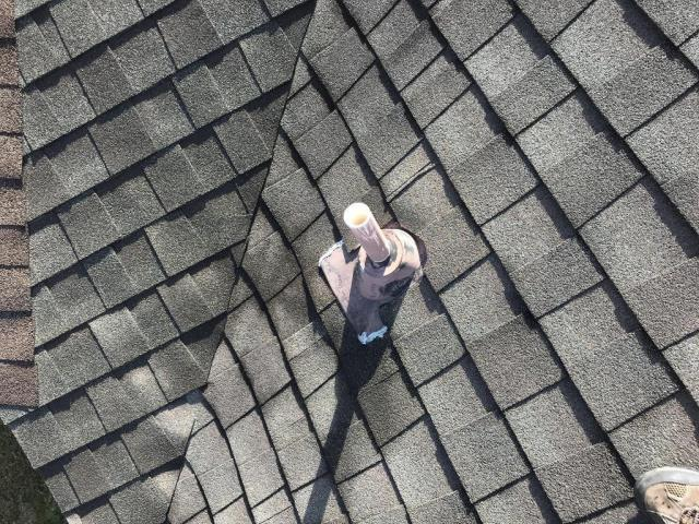 Georgetown, TX - Roof Repair Nails backing out missing ridge shingles Georgetown Texas