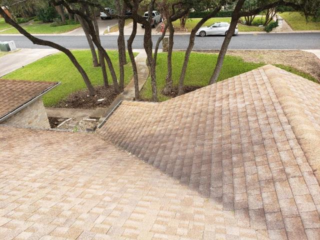 Georgetown, TX - Insurance Roof Replacement Georgetown Texas Golden Pledge GAF Timberline Natural Shadow Weathered Wood