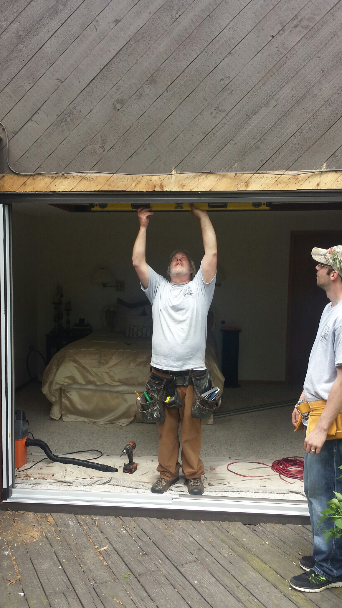 Akron, OH - Installing a beautiful patio door in Akron..Renewal by Andersen