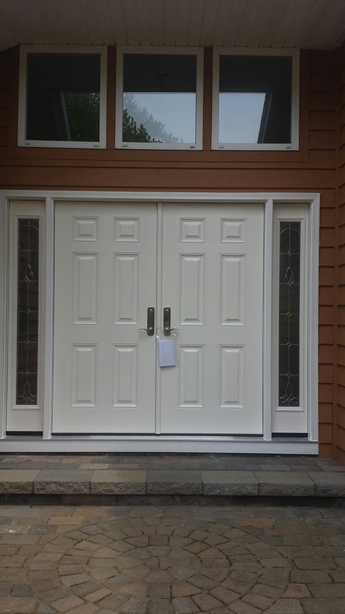 Mentor, OH - Beautiful double entry door with sidelites installed in Mentor.Renewal by Andersen