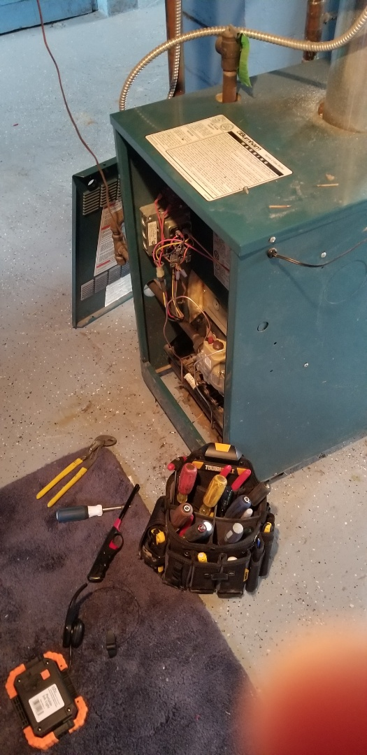 Hammond, IN - Performed thermocouple change out on gas water boiler