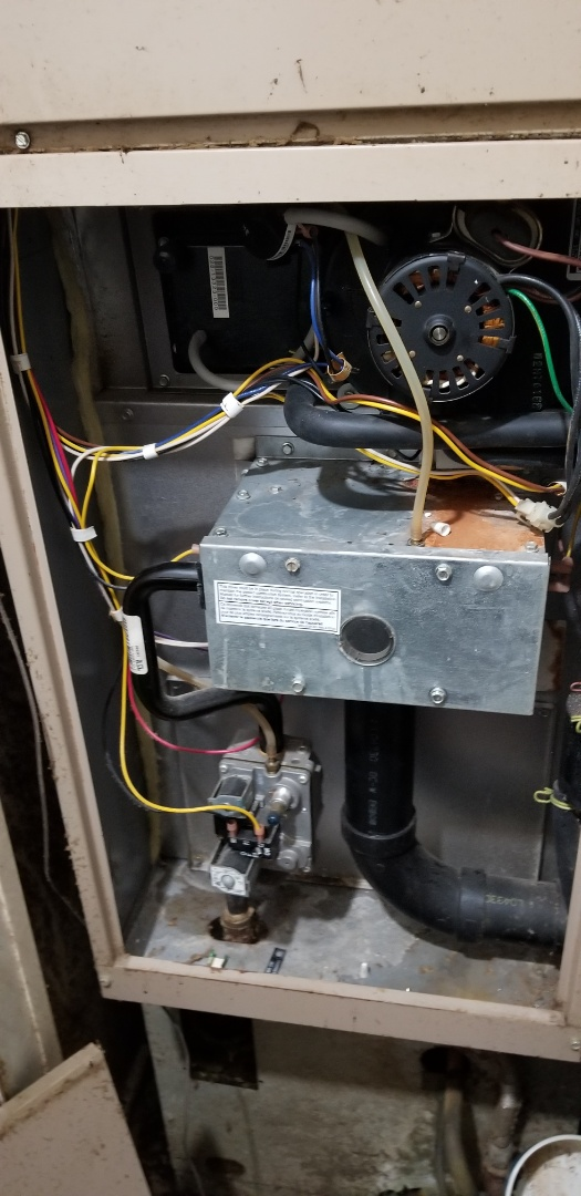 Merrillville, IN - Perform draft inducer chanfe on Coleman gas forced air furnace