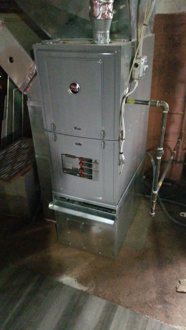 Homewood, IL - Maintenance repair on Ruud furnace