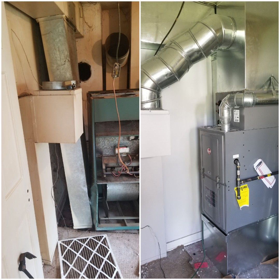 Valparaiso, IN - Installation of Rheem gas furnace