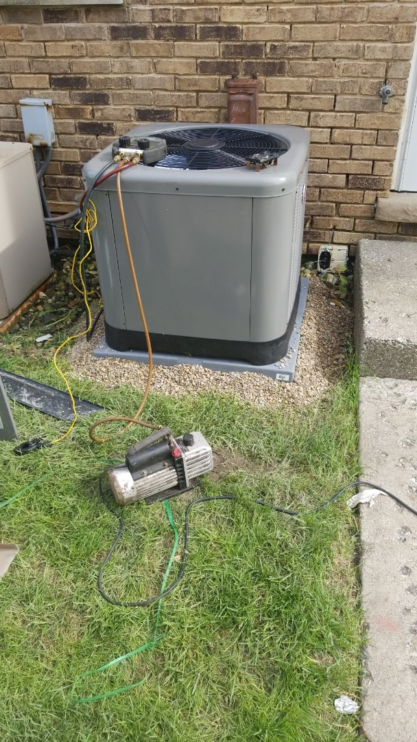 Lynwood, IL - Install Rheem airconditioning unit
