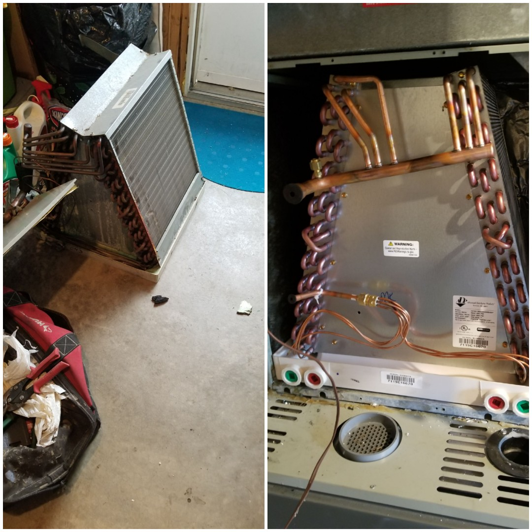 Lynwood, IL - Install airconditioning coil