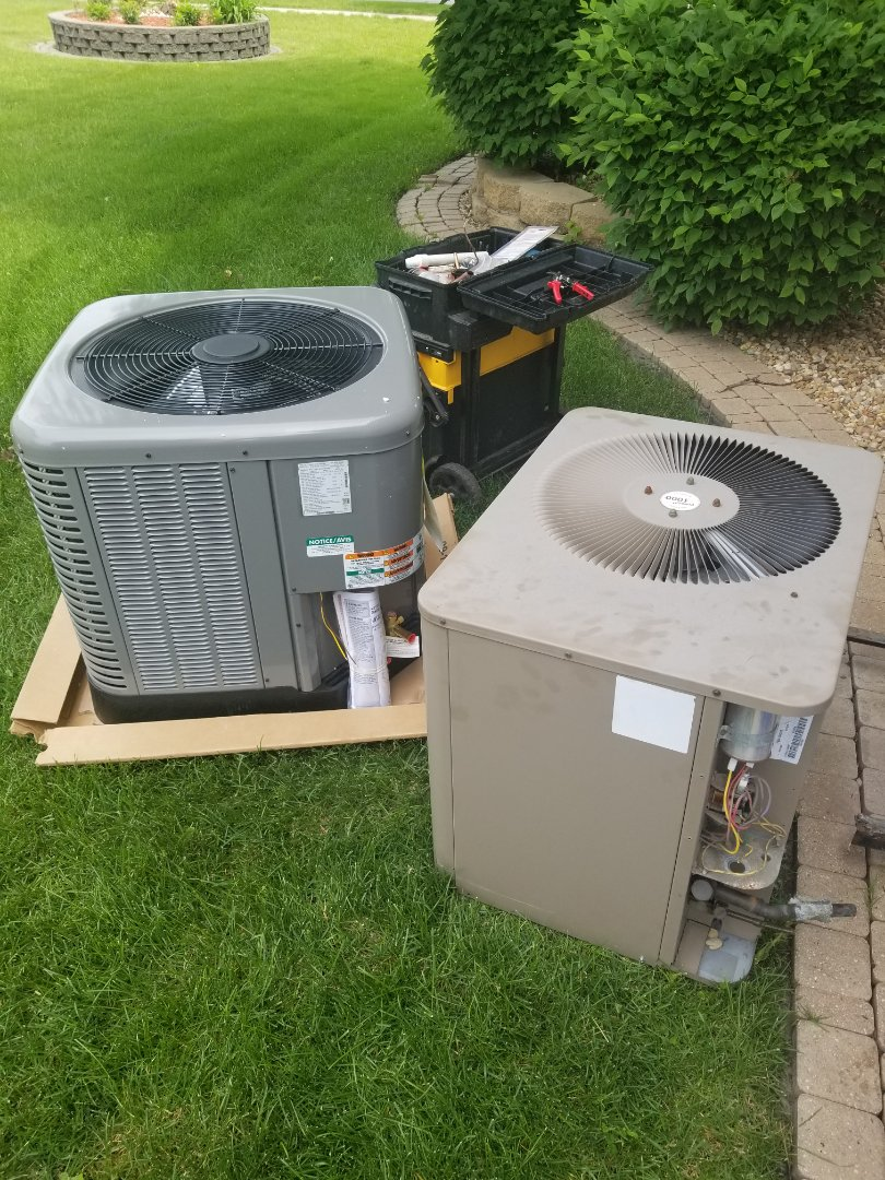 Dyer, IN - Install rheem airconditioning unit
