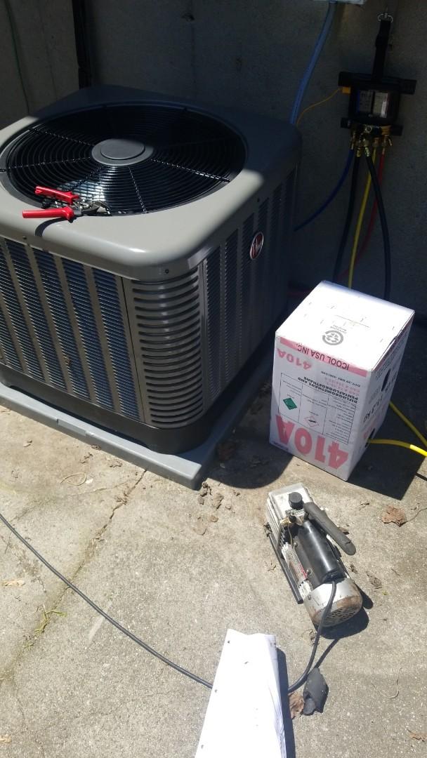Merrillville, IN - Install 2.5 ton Rheem airconditioner