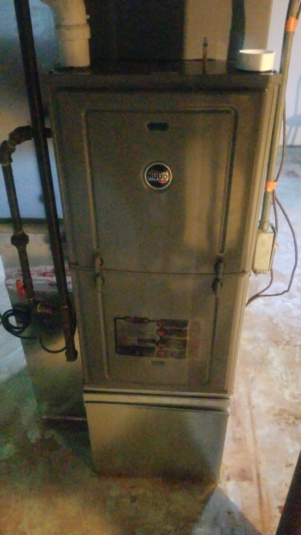 Merrillville, IN - Furnace maintenance on Ruud furnace