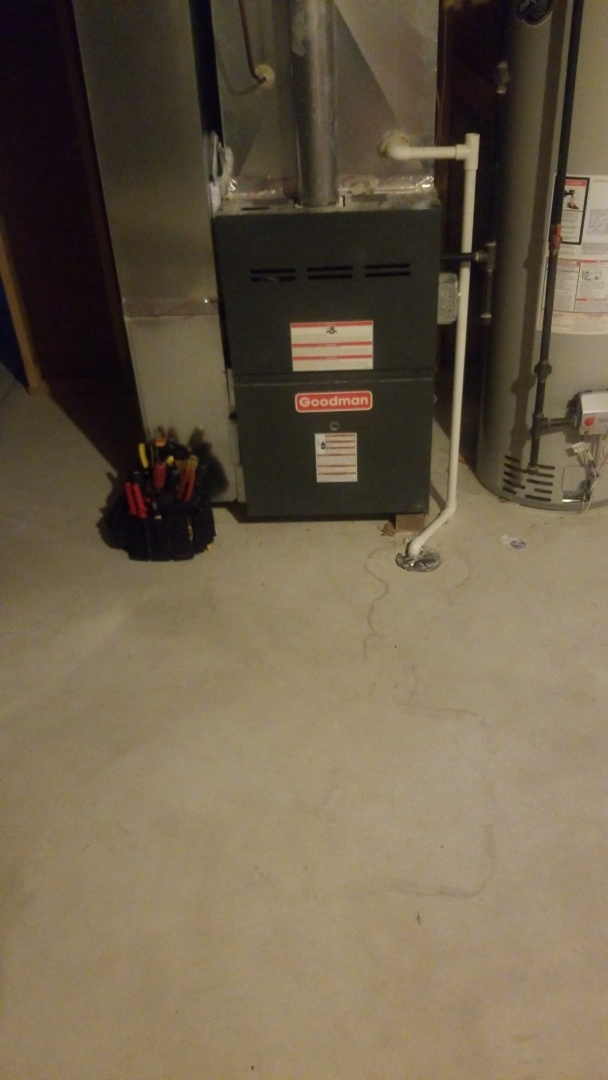Merrillville, IN - Repair blower motor on Goodman furnace for airconditioning operation