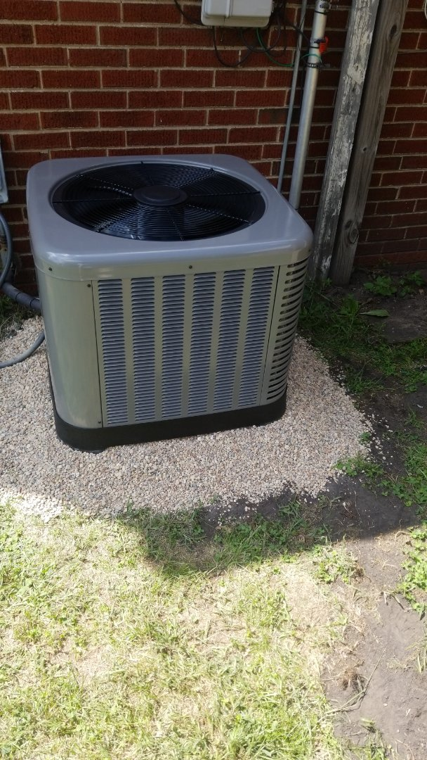 Gary, IN - Rheem airconditioning unit installation