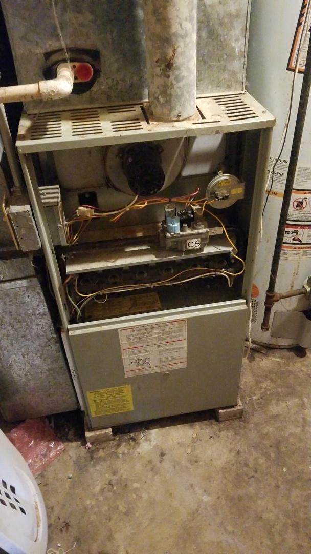 Lynwood, IL - Furnace repair on American Standard furnace