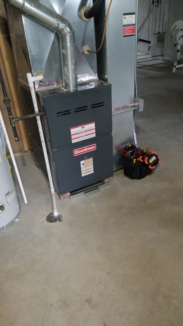 Richton Park, IL - Furnace repair on Goodman furnace