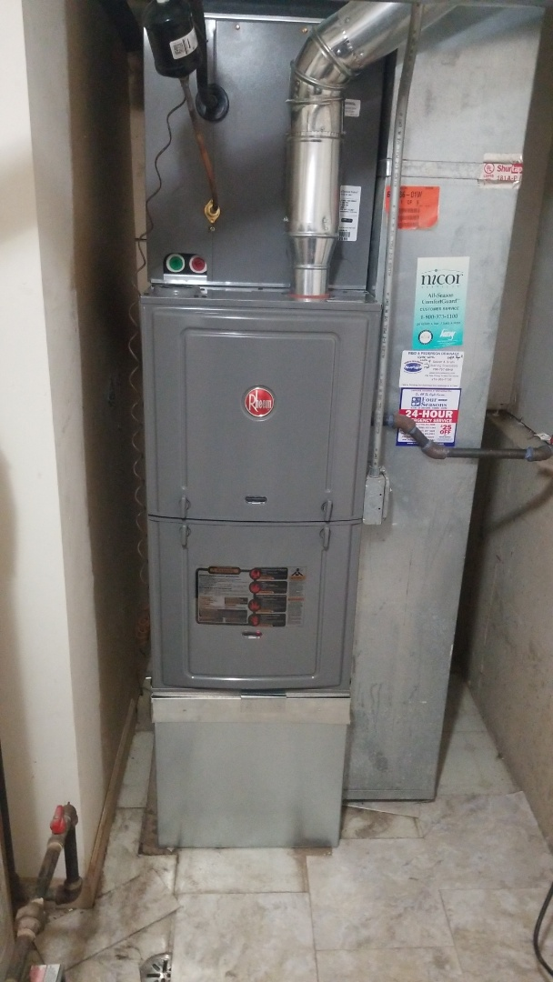 Richton Park, IL - New furnace installation