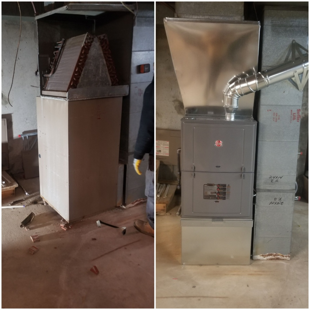 Crown Point, IN - New Installation of Rheem furnace