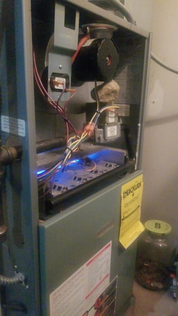 Merrillville, IN - Furnace repair on Rheem furnace