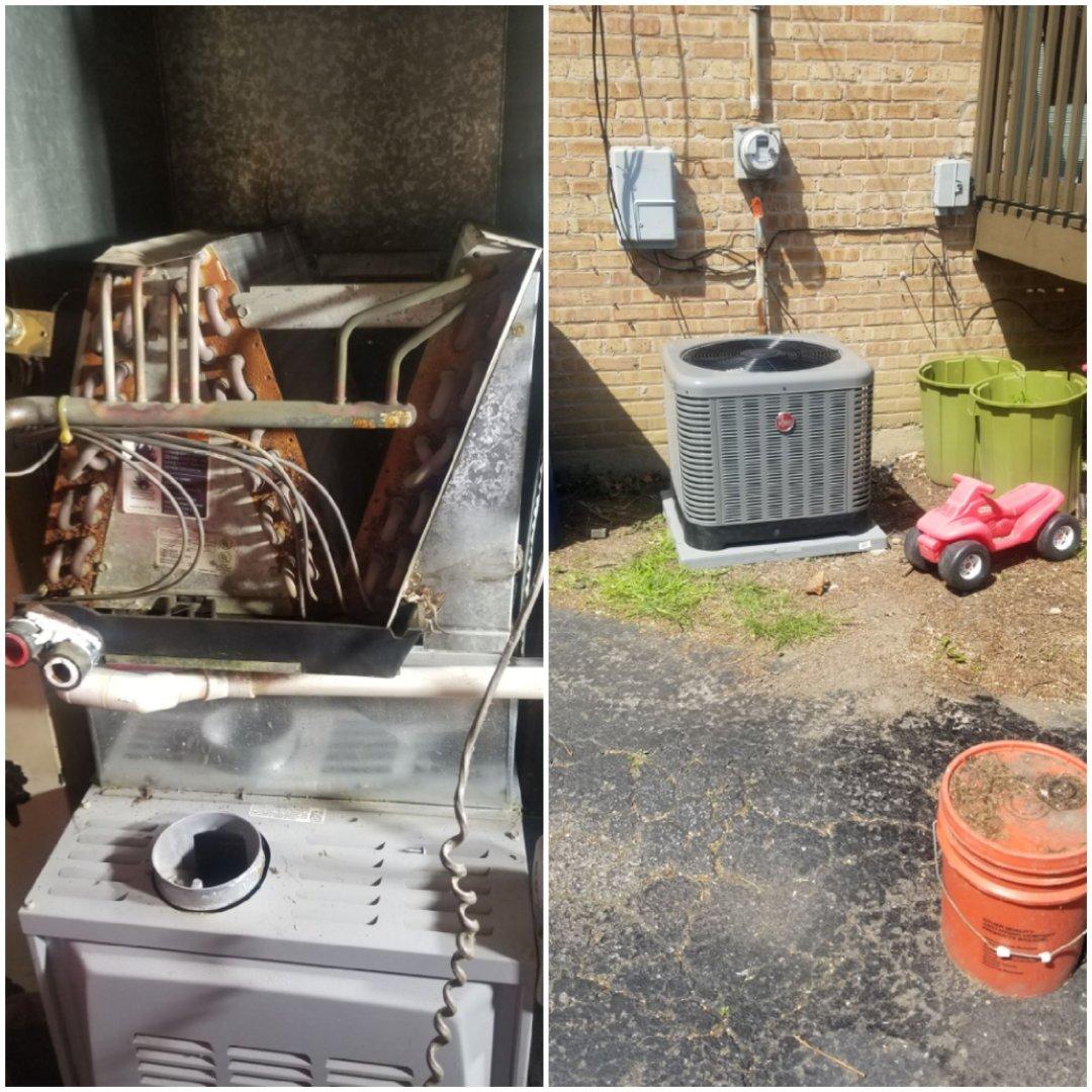 Homewood, IL - New Rheem air-conditioner installation