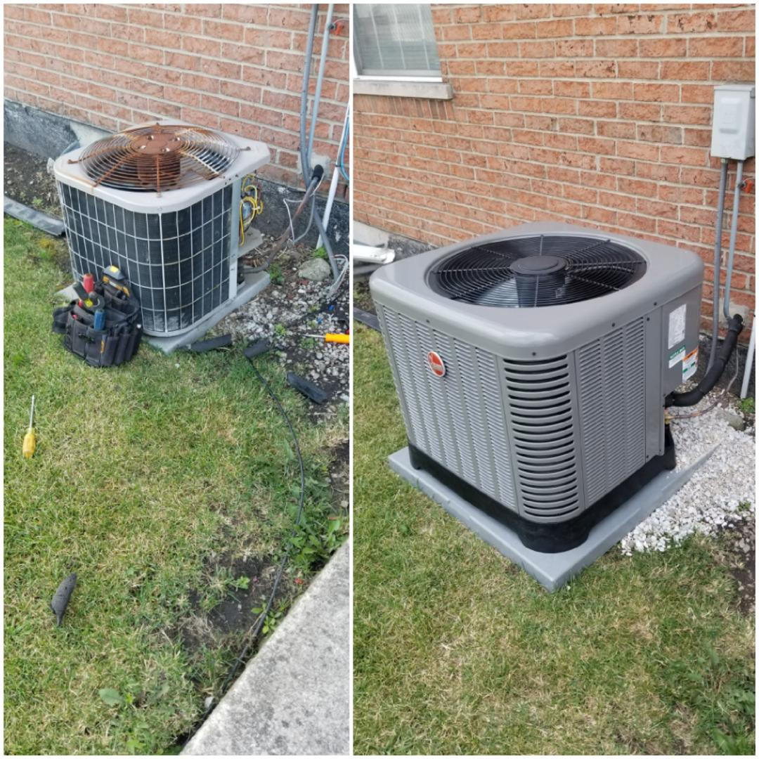 Park Forest, IL - New Rheem airconditioning install