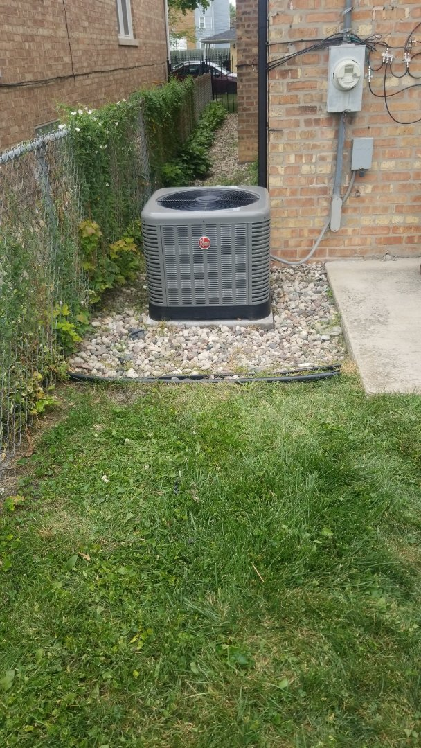 Chicago, IL - New Rheem airconditioning install