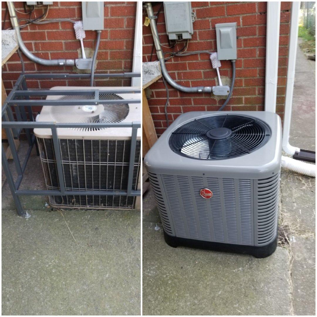 Gary, IN - New Rheem airconditioning installation