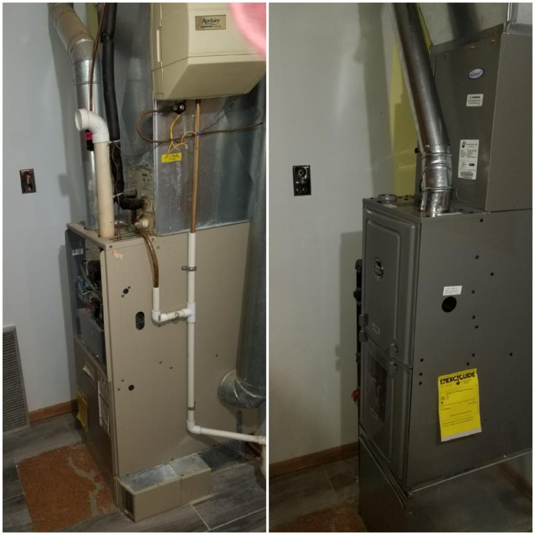 Calumet City, IL - New rheem furnace installation