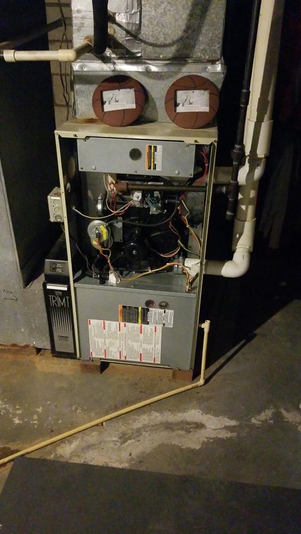 Crete, IL - Furnace inspection