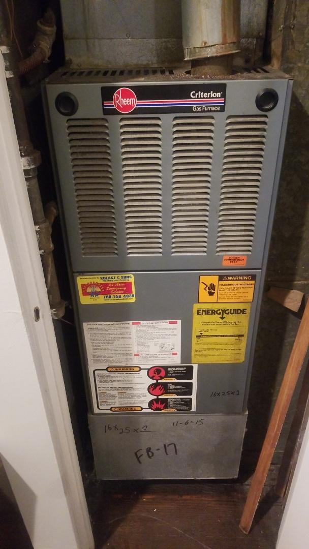 Homewood, IL - Rheem furnace repair