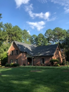 "Matthews, NC - Gave peace of mind to the buyers of this beautiful home, with a new roof and a GAF ""System Plus"" warranty.  Shingles are GAF ""Timberline High Definition Architectural"" in Charcoal."