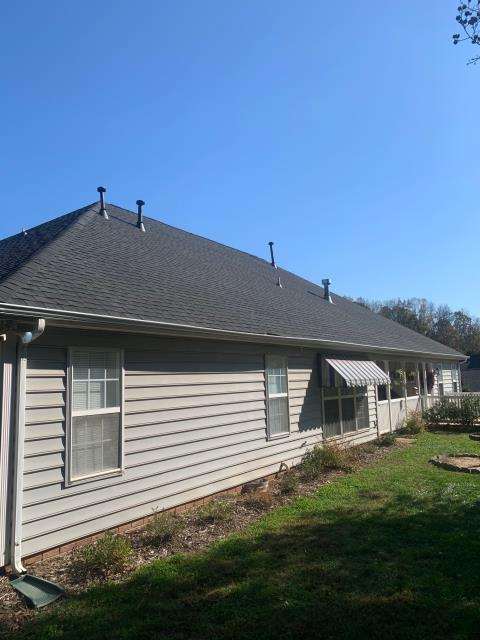 """Indian Trail, NC - Roof Replacement using GAF  """"Lifetime Timberline Ultra"""" high definition architectural shingles! Pictures just don't do it justice.  Customer saw our work down the street and did not bother calling anyone else."""